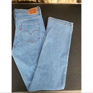 LEVI'S 314 shaping straight light wash denim jeans